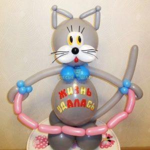 Кот с сосисками из шаров детям