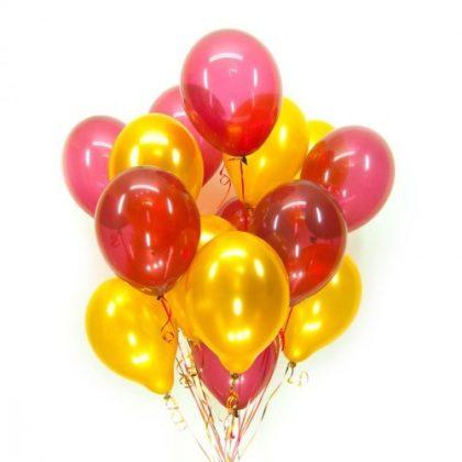 Красно-желтый (30шт) - облако из шаров