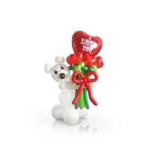 Мишка с букетом 2 из шаров детям