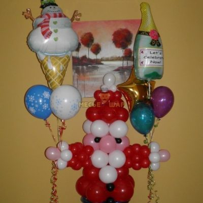 Набор с Морозом из шаров на Новый год