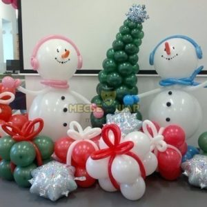 Набор Снеговики и подарки на Новый год