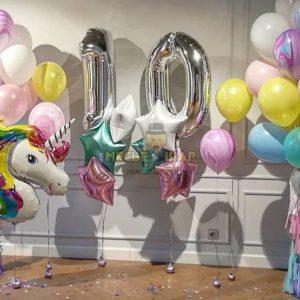 Набор Нежное десятилетие из шаров детям