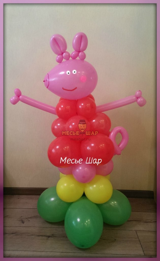 Набор Пеппа из шаров детям