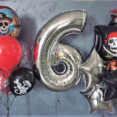 Набор Пиратский из шаров детям
