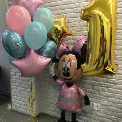 Набор Розовая Минни из шаров детям