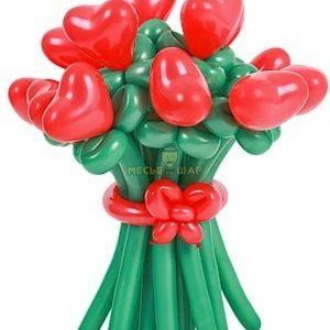 Цветы с любовью из шаров