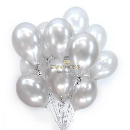 Серебристые (30шт) - облако из шаров