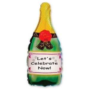 Шампанское шар на Новый год