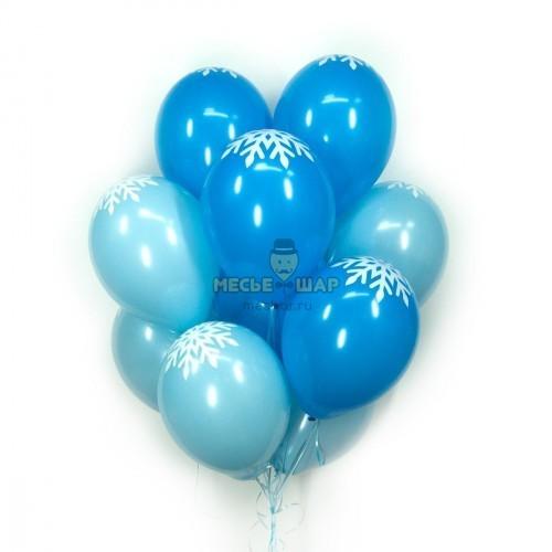 Сине-голубые (30шт) - облако из шаров