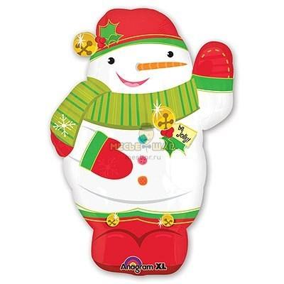 Снеговик шарик на Новый год