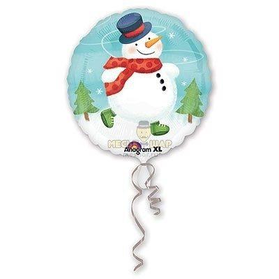Снеговик в шаре на Новый год