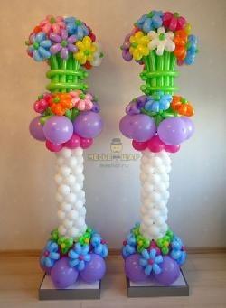 Стойка из воздушных шаров #16