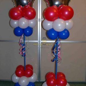Стойка из воздушных шаров #6