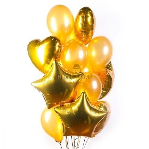 Золотой фонтан - облако из шаров