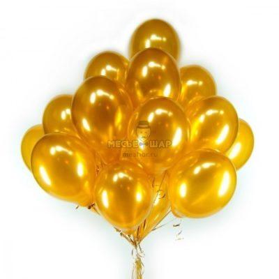 Золотые (30шт) - облако из шаров