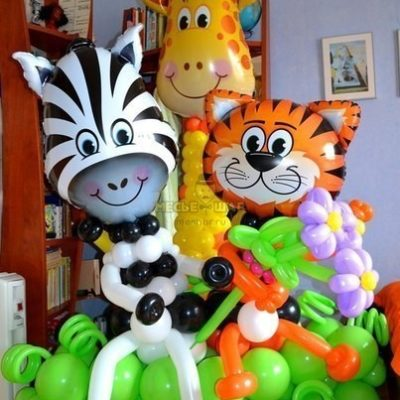 Зоопарк из шаров детям