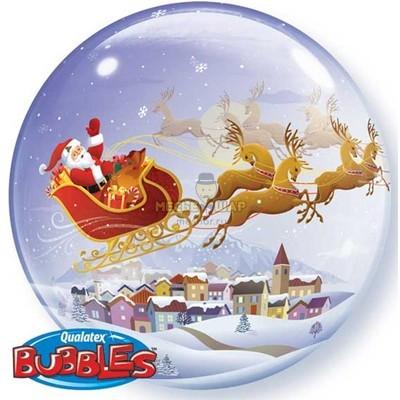 Бабблс Дед Мороз (50см) шар