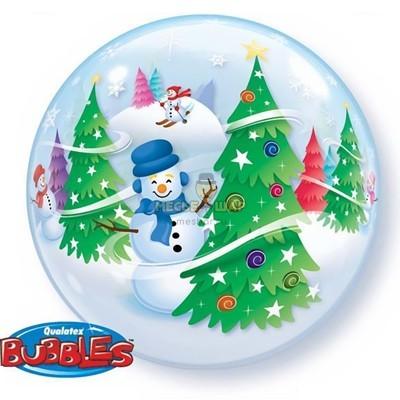 Бабблс Снеговик шар
