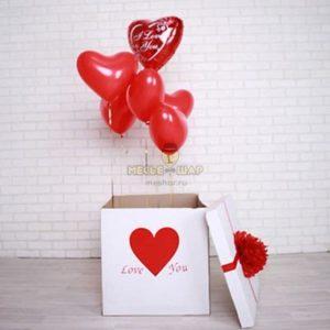 Коробка-сюрприз из шаров #1