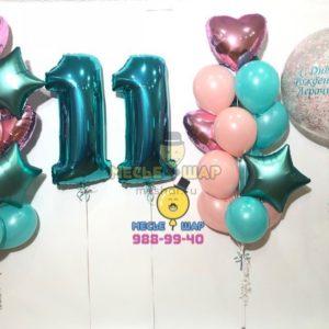 Доченьке-красавице - набор из шаров
