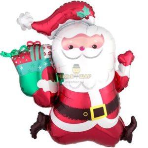 Фольгированный Санта Клаус (75см)