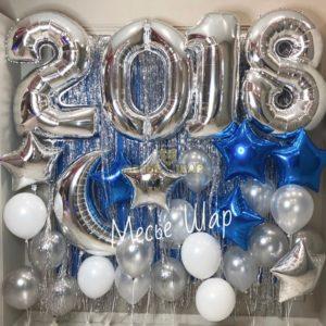 Фотозона на Новый год из шаров