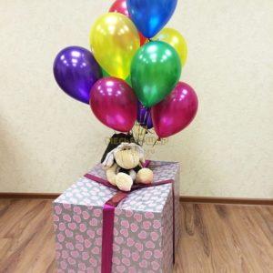 Коробка-сюрприз из шаров #2