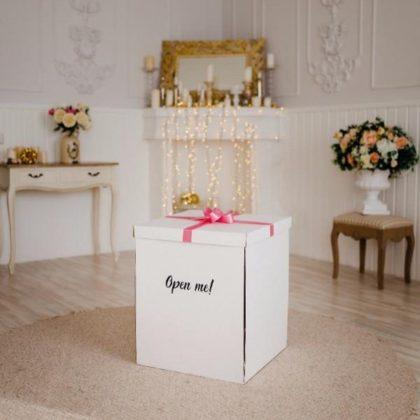 Коробка-сюрприз из шаров с крышкой