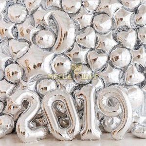 Новогодняя фотозона 2 из шаров