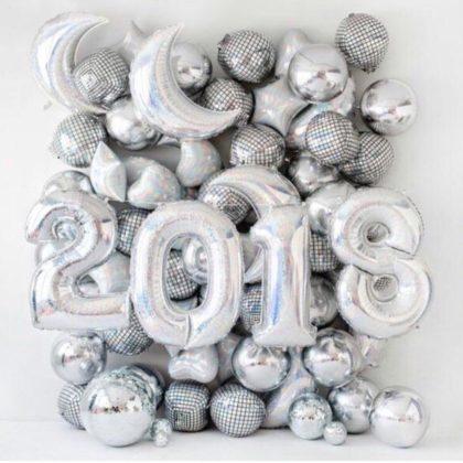 Новогодняя фотозона из шариков