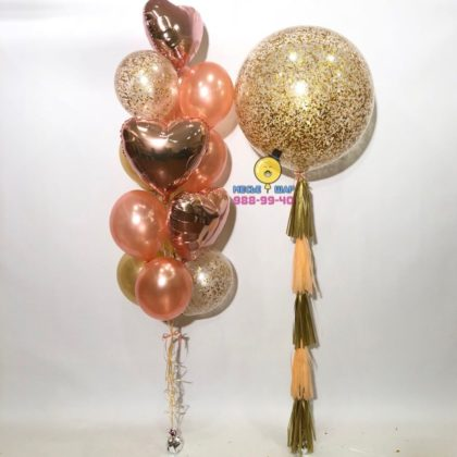 Розовое золото даме - набор из шаров