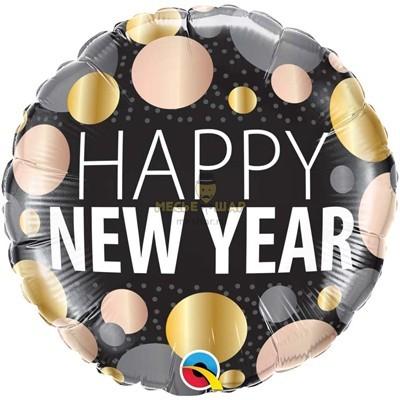 Шар (45см) Happy New Year