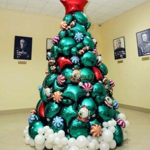 Шикарная елка из шаров 2.2 метра