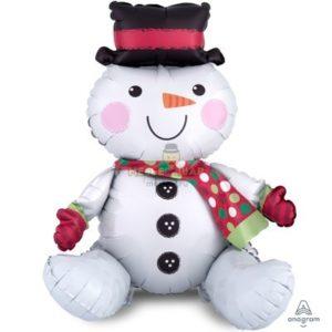 Сидячий снеговик