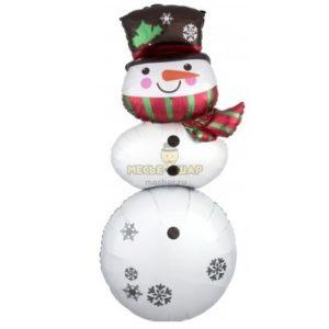Снеговик фольгированный (111см)