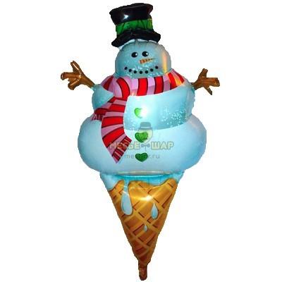 Снеговик на мороженом