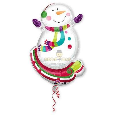Снеговик на санях