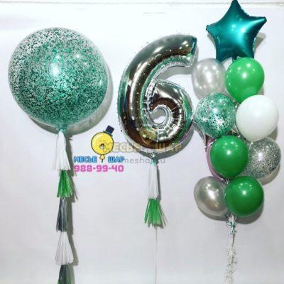 Зеленое настроение - набор из шаров
