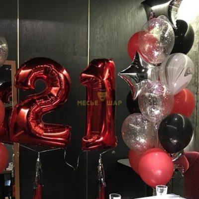 Стильно красный - набор из воздушных шариков