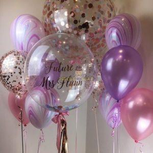 Сиреневый - набор из воздушных шариков