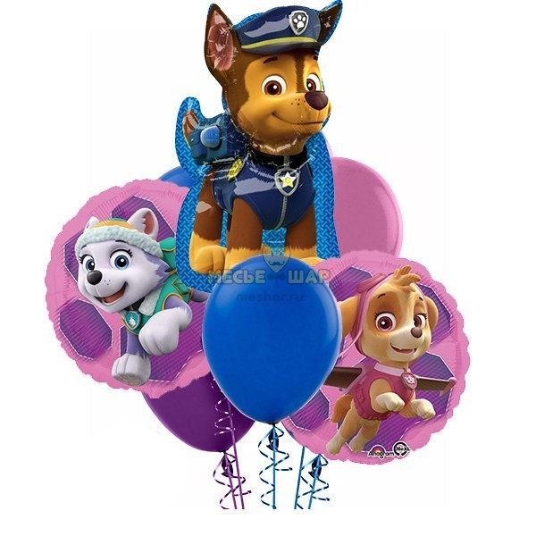 Букет Щенячий патруль из шаров