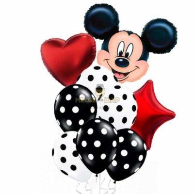 Фонтан с Микки Маусом из шариков