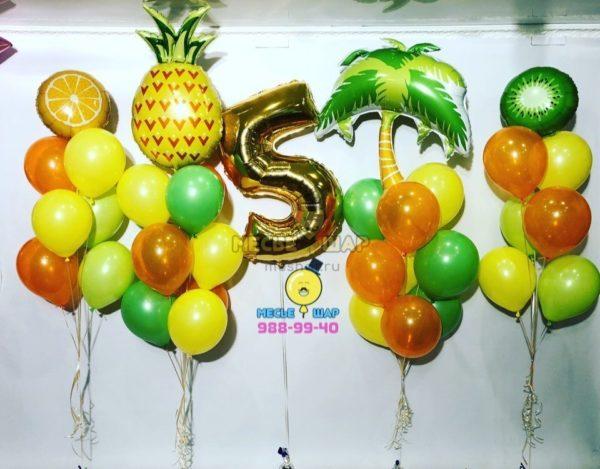Гавайская вечеринка из воздушных шариков
