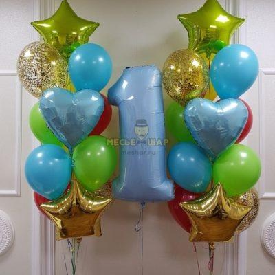 Кокосики - набор из воздушных шаров