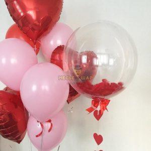 Любовный набор из воздушных шариков