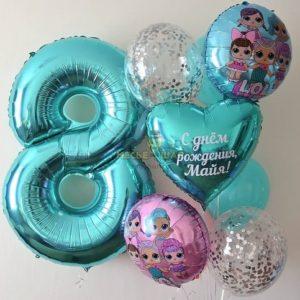 Лол шары - набор из воздушных шаров