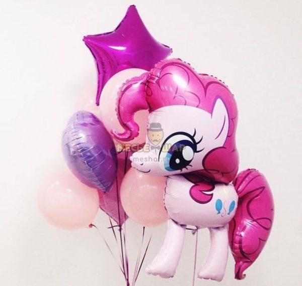 Маленькая Пинки - набор из воздушных шаров