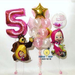 Маша и медведь - набор из воздушных шаров