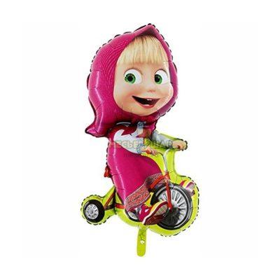 Шарик Маша на велосипеде