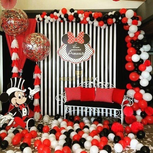 Минни, микки вечеринка - набор из воздушных шаров